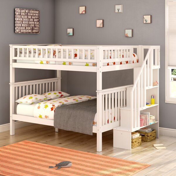 Shyann Full over Full Bunk Bed with Shelves by Viv + Rae