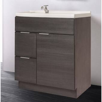 Kohler Damask 30 Vanity Base Only With Toe Kick 1 Door And 3 Drawers On Right Wayfair