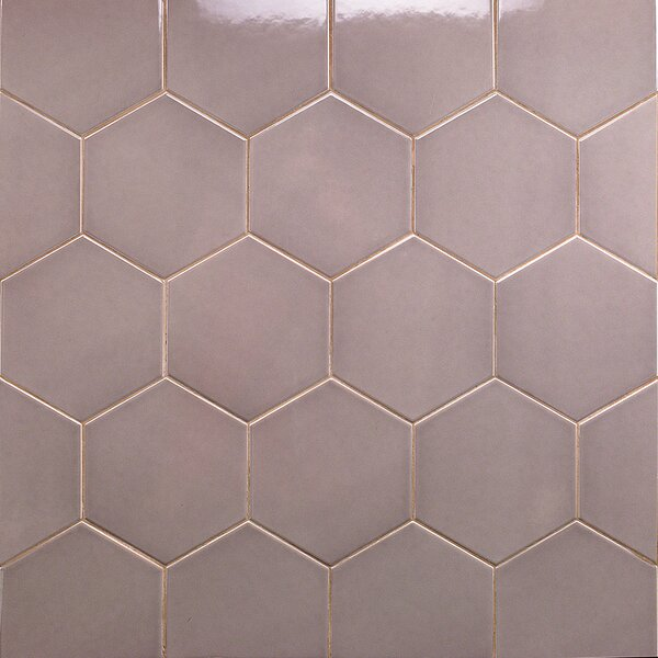 Bethlehem Hexagon 6 x 7 Ceramic Field Tile in Nude Brillo by Splashback Tile