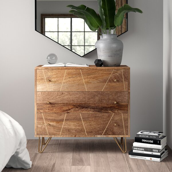 Banas 3 Drawer Chest by Mercury Row
