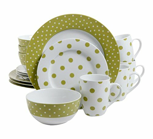 Luxe Dot 16 Piece Dinnerware Set, Service for 4 by Gibson