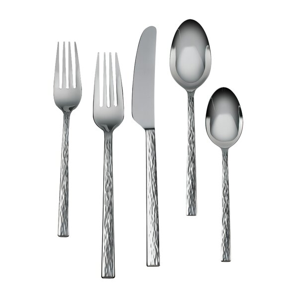 Hammered 5 Piece Place Setting, Service for 1 by Vera Wang