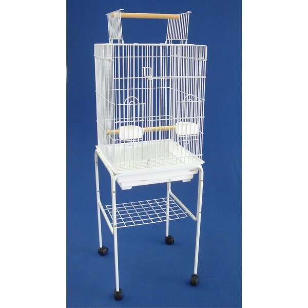 Open Top Small Parrot Bird Cage with Stand by YML