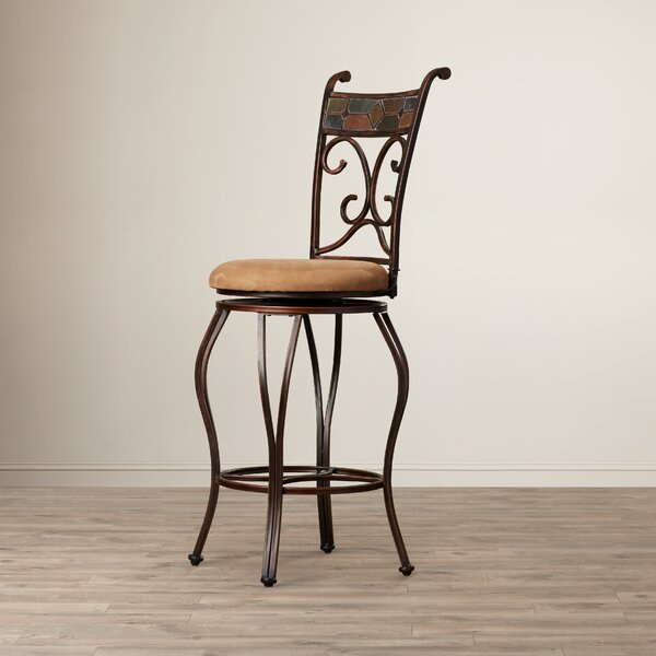 Idella 29 Swivel Bar Stool by Andover Mills
