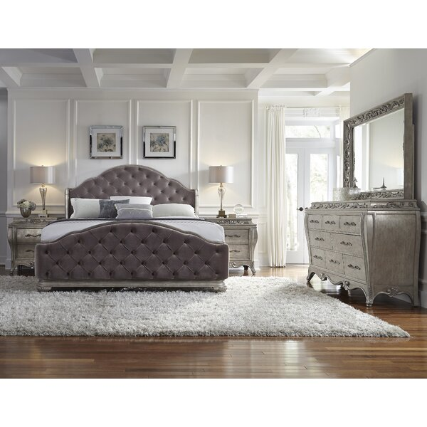 Holmes Upholstered Panel Headboard by House of Hampton