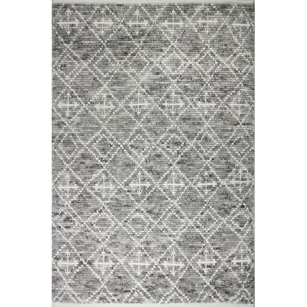 Daryl Hand-Knotted Wool Gray Area Rug by Mistana