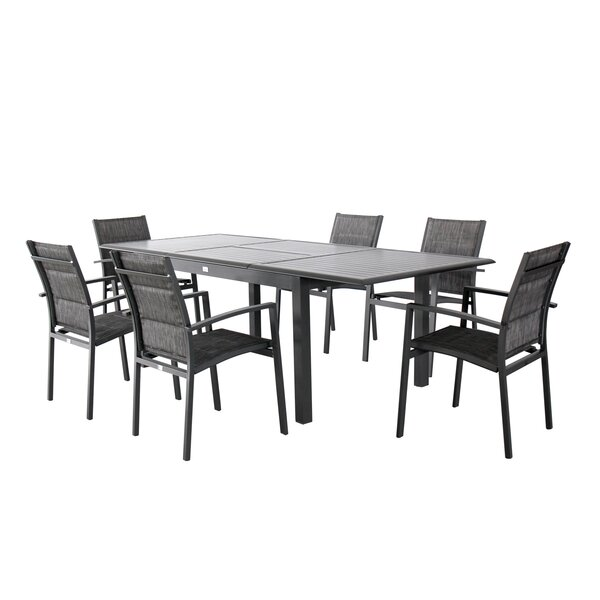 Aluminum 7 Piece Dining Set by Magari