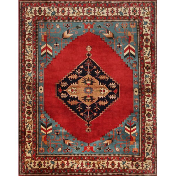 One-of-a-Kind Serapi Fine Hand-Knotted Wool Red/Blue Indoor Area Rug by Mansour