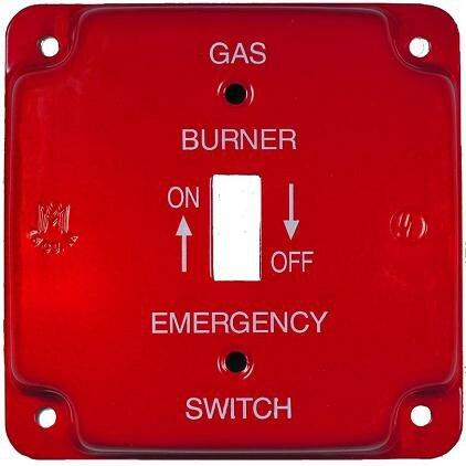 Raised Oil Emergency Metal Switch Plates by Morris Products