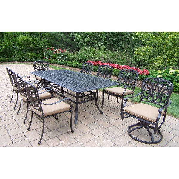 Bosch 9 Piece Dining Set with Cushions by Darby Home Co