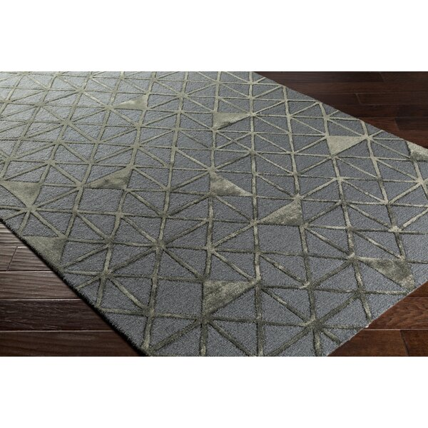 Blandon Hand-Tufted Gray/Brown Area Rug by Wrought Studio