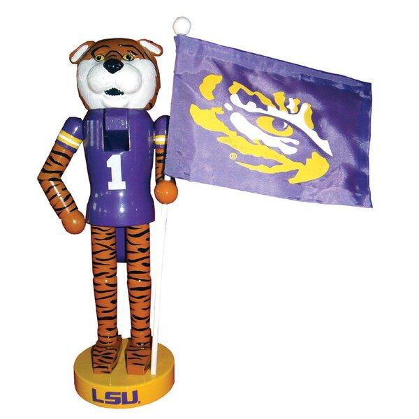 NACC LSU Mascot Flag Nutcracker by Santa's Workshop