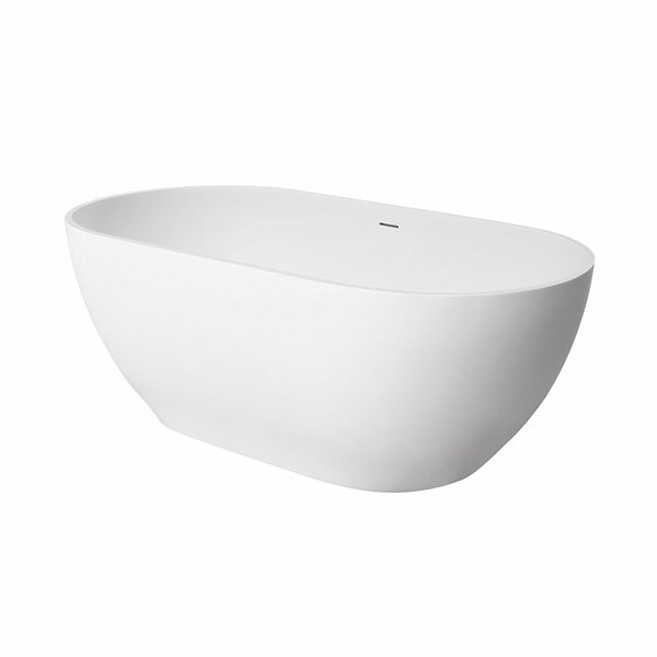 Faro 59 x 30 Freestanding Soaking Bathtub by Maykke