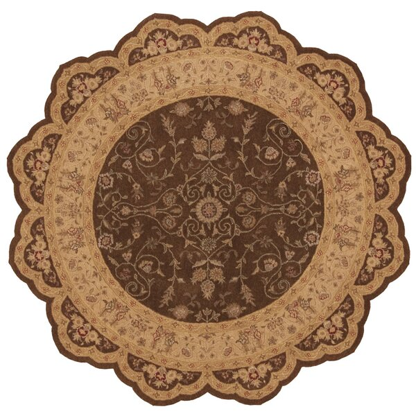 Lundeen Brown/Tan Floral Area Rug by Astoria Grand