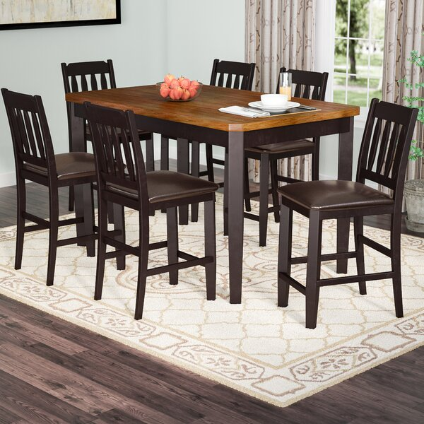 Chandlerville 7 Piece Counter Height Dining Set by Andover Mills