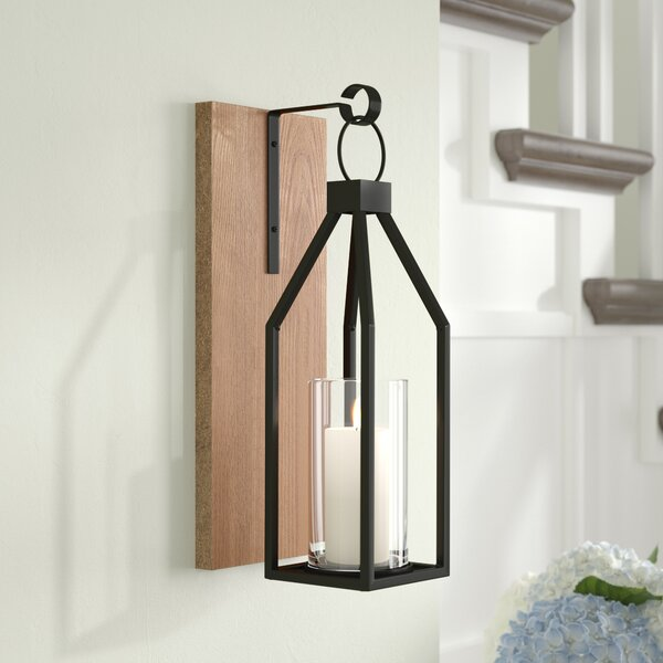 Wood and Metal Wall Sconce by Gracie Oaks