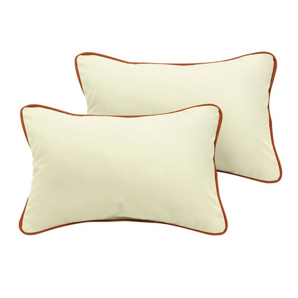 Cretien Sunbrella Outdoor Lumbar Pillow (Set of 2) by Red Barrel Studio