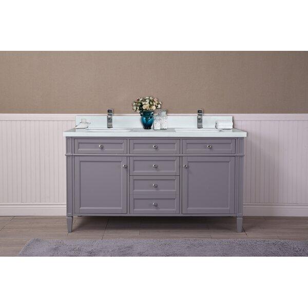 Freeland 61 Double Bathroom Vanity Set by Charlton Home