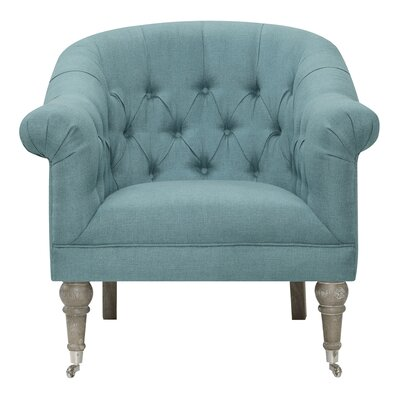 Ophelia Co Danielle Barrel Chair Upholstery Color Blue Lagoon