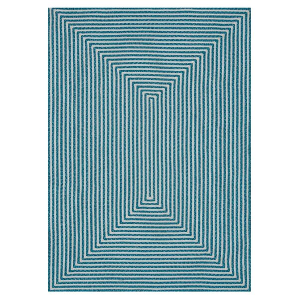 Gout Hand-Braided Blue Indoor/Outdoor Area Rug by Latitude Run