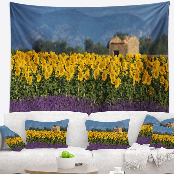 Lavender and Sunflower in Provence Tapestry and Wall Hanging by East Urban Home