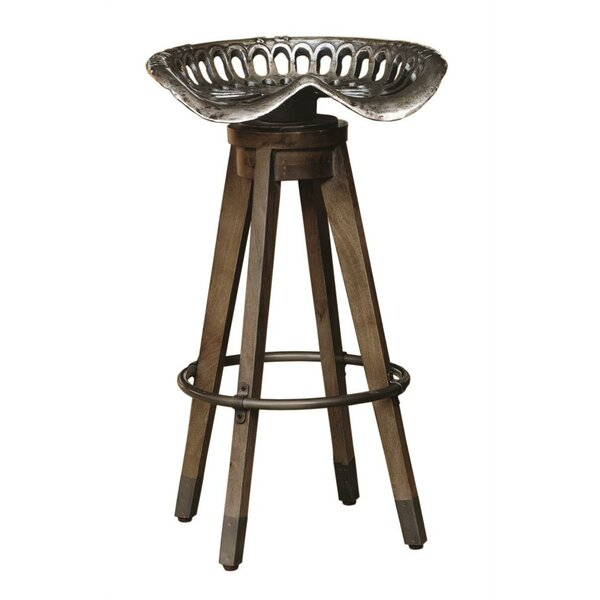 Boone Linville Farm Swivel Bar Stool by Highway To Home