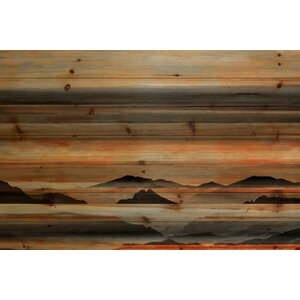 'Mountains' by Parvez Taj Painting Print on Natural Pine Wood by Union Rustic