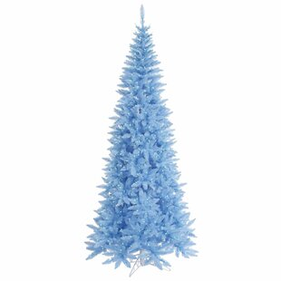 45 sky blue fir artificial christmas tree with 200 sky blue lights with stand