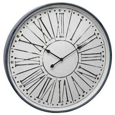 Gracie Oaksoversized Tilden Metal Glass 32 Wall Clock Gracie Oaks Dailymail