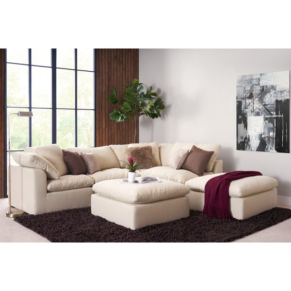 Grantville 51-inch Reversible Modular Sectional with Ottoman by Three Posts Three Posts