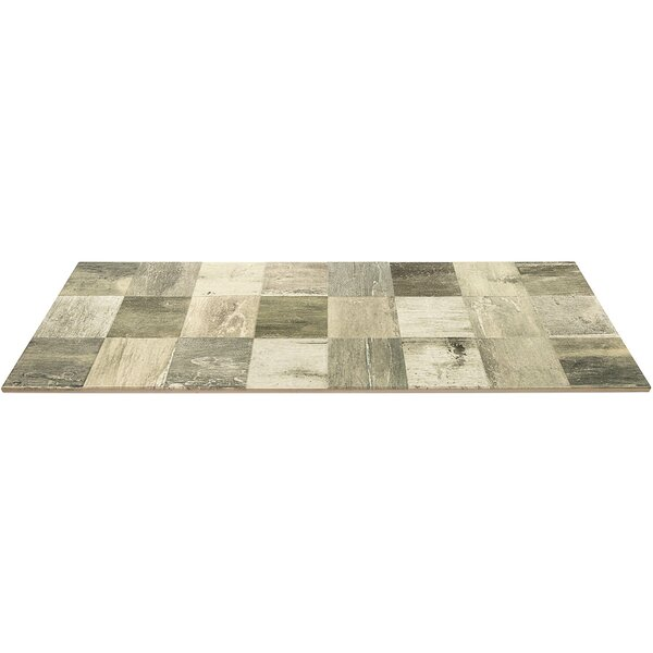 Lucky 3D 12 x 32 Ceramic Wood Look Tile in Greige by Splashback Tile