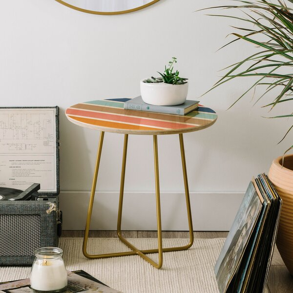 Fimbis Six Stripes End Table by East Urban Home