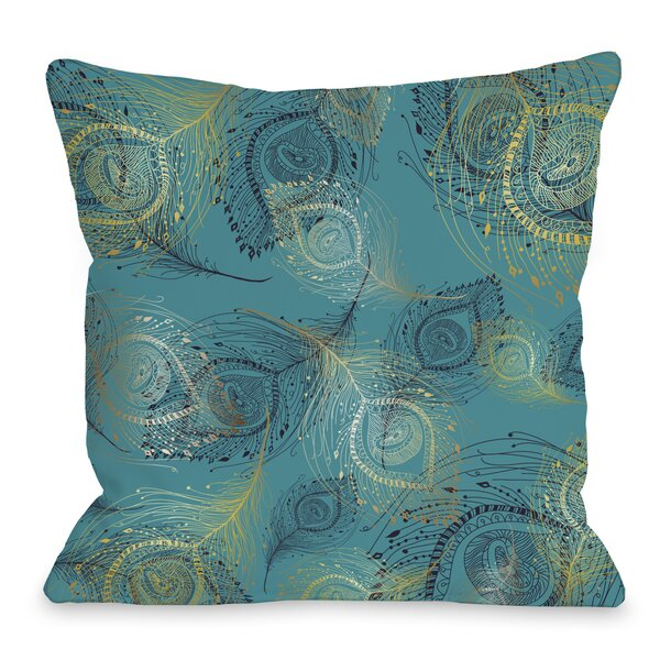 Amalia Peacock Throw Pillow by One Bella Casa