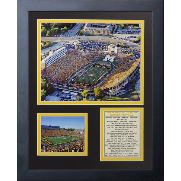Missouri Tigers Faurot Field Framed Memorabilia by Legends Never Die