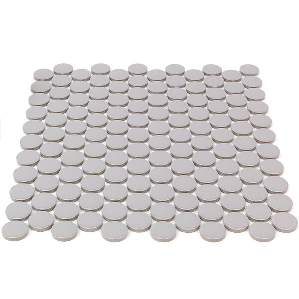 Bliss 1 x 1 Ceramic Mosaic Tile in Gray by Splashback Tile