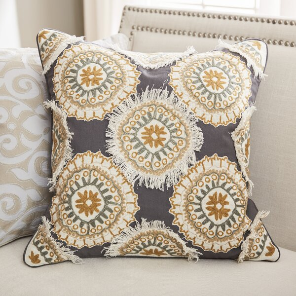 Tremaine Cotton Duck/Slub Throw Pillow by Bungalow Rose