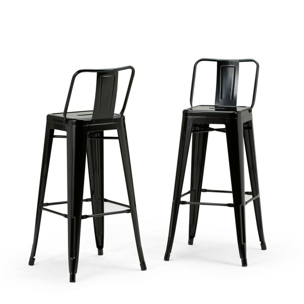 Rayne Metal 30 Bar Stool (Set of 2) by Simpli Home