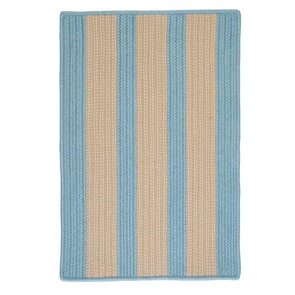 Seal Harbor Light Blue Indoor/Outdoor Area Rug by Breakwater Bay