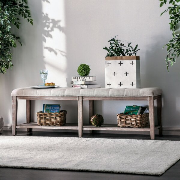 Garett Shelves Storage Bench by One Allium Way One Allium Way