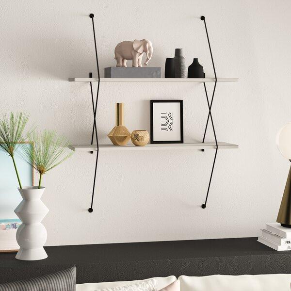 Mcentee 2 Wall Shelf Set with Wire Bracket by Mercury Row