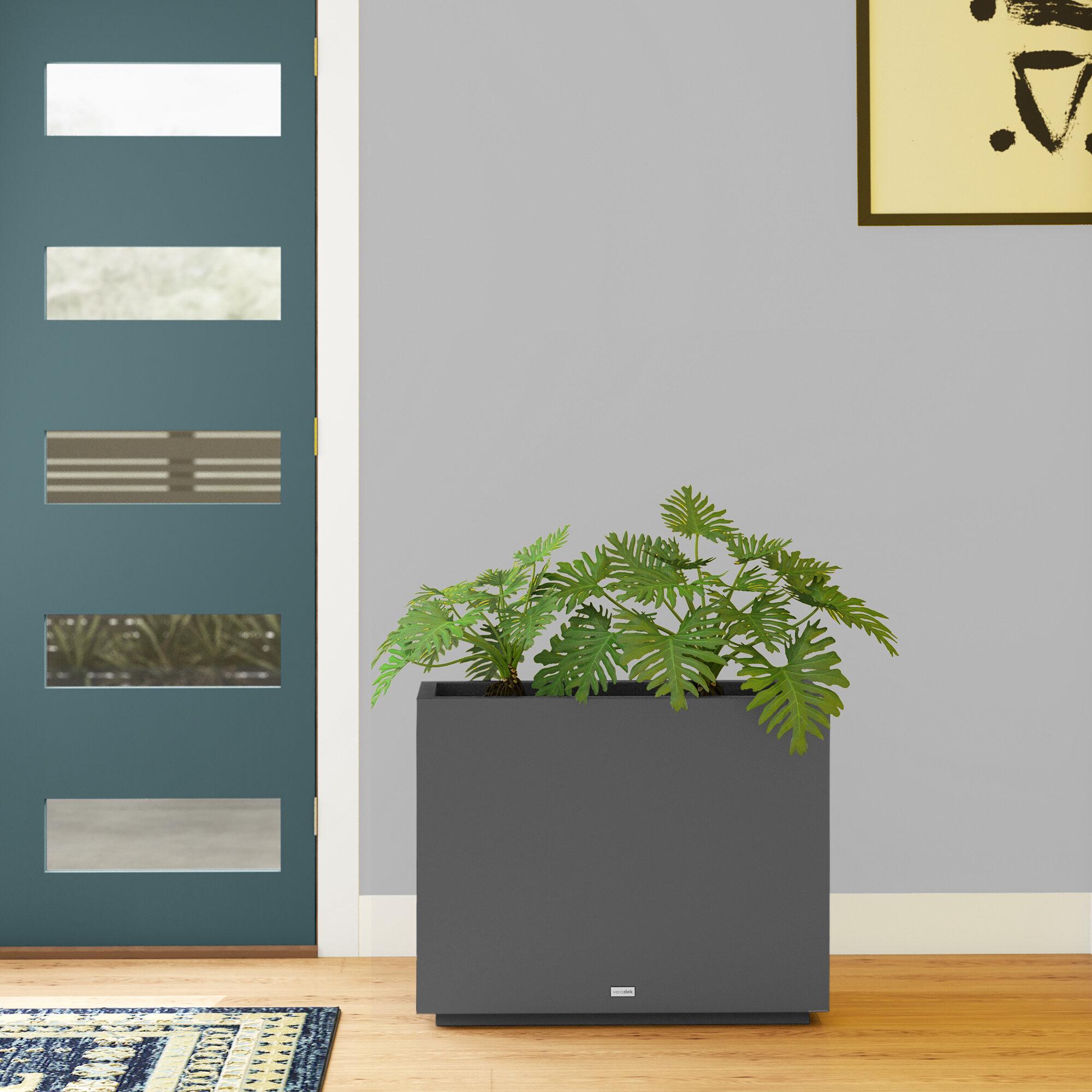 Metallic Series Galvanized Powder Coated Steel Planter Box Reviews Allmodern
