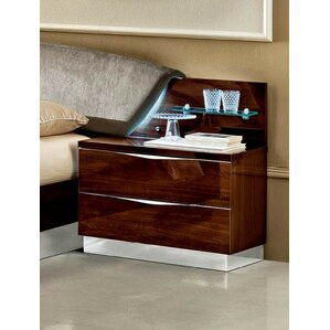 2 Drawer Nightstand by Noc..