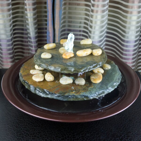 Tranquility Pool Tabletop Fountain with LED Light by Bluworld