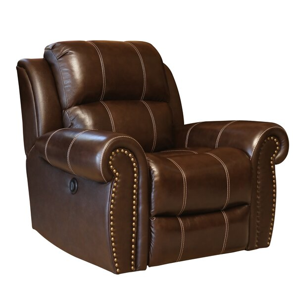 Deloatch Leather Manual Recliner by Darby Home Co