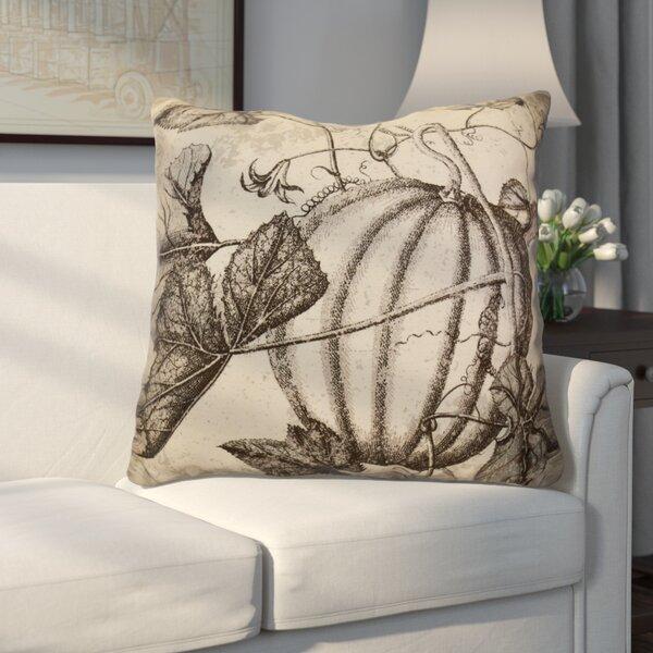 Miller Antique Pumpkin Floral Euro Pillow by Alcott Hill