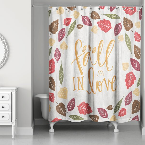 Kinley Fall in Love Shower Curtain by The Holiday Aisle