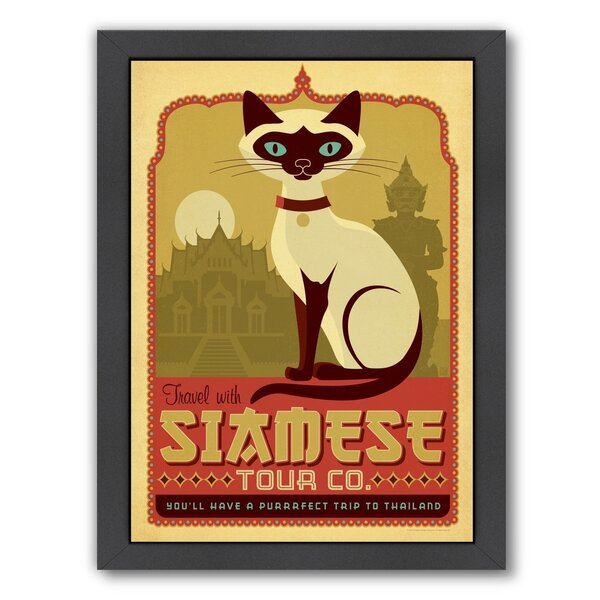 Cat Siamese Framed Vintage Advertisement by East Urban Home