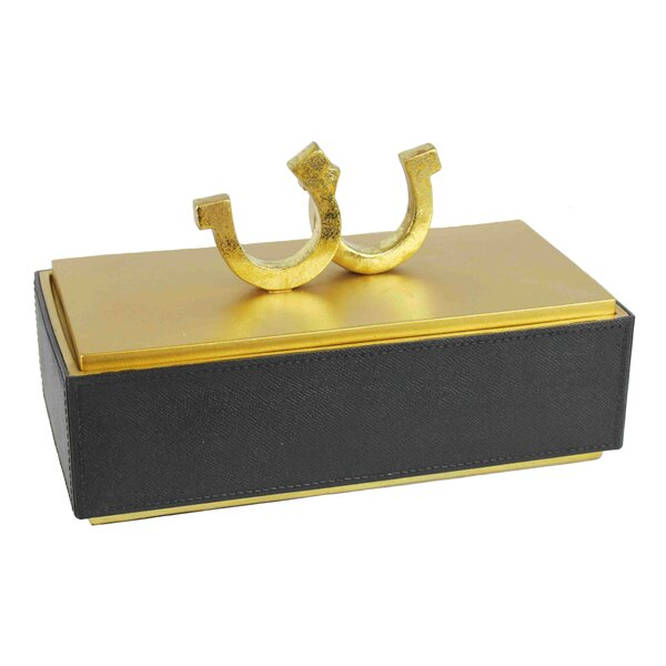 Rectangle Horseshoe Decorative Box by Darby Home Co