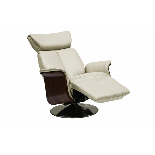Mcclaine Leather Power Swivel Recliner by Orren Ellis