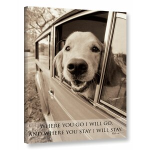 Dogs and Sayings Photographic Print on Wrapped Canvas by Latitude Run
